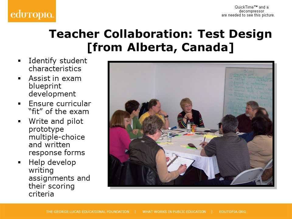 Teacher Collaboration: Test Design [from Alberta, Canada]